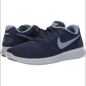 NWB Men's Nike Free Run Navy/Sky Blue sz 10.5 👟